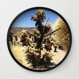Joshua Tree Cholla Cactus Window #1 Wall Clock