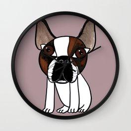 Joey, the french bulldog that thinks he's human Wall Clock