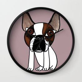 Joey, the french bulldog that thinks he's human Wall Clock