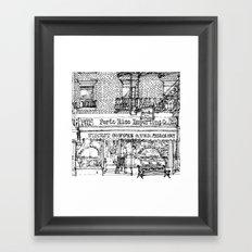 PORTO RICO COFFEE Framed Art Print
