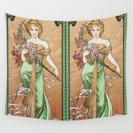 "Alphonse Mucha ""The Seasons (series): Spring"" (1900) Wall Tapestry"