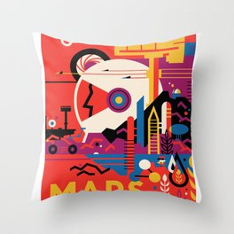 NASA Visions of the Future - Mars Tours Throw Pillow