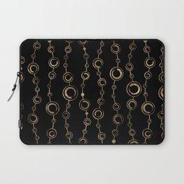 Enso Circle - Zen pattern gold on black Laptop Sleeve