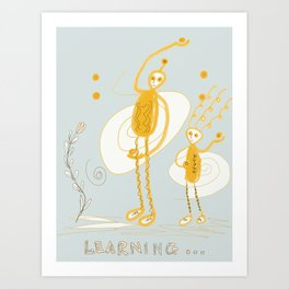 learning about curve balls Art Print