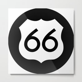 Route 66 Ideology Metal Print