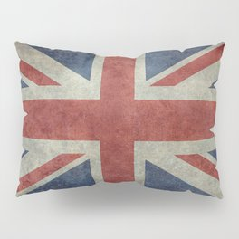 UK Flag, Dark grunge 3:5 scale Pillow Sham