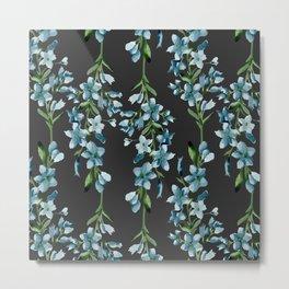 Blue branches pattern Metal Print