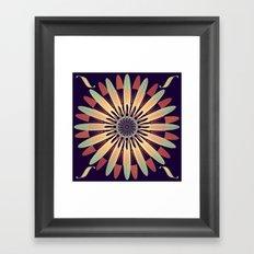 Graphic Floral Design Framed Art Print