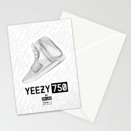 YEEZYS 750 Boost Sneakers Art Stationery Cards