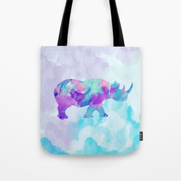 Abstract Rhino B Tote Bag