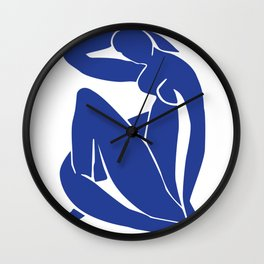 Matisse blue woman print, abstract woman print, matisse wall art, Abstract Modern Print, Wall Clock