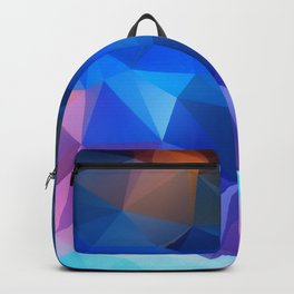 Abstract geometric polygonal pattern inih and pink tones . Backpack