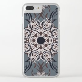 Wood and Sky - Mosaic Clear iPhone Case