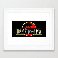 jurassic park Framed Art Prints featuring Jurassic Park by Matt Pikarsky