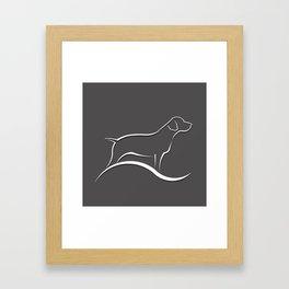 Pointer Dog Framed Art Print