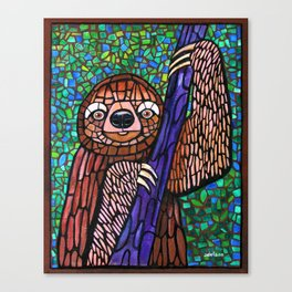 DJ Jazzy Sloth Canvas Print