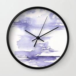 150528 Watercolour Shadows Abstract 124 Wall Clock