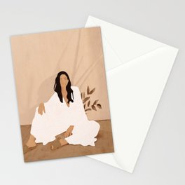 Sitting on the Floor Stationery Cards