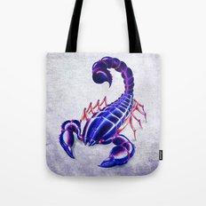 Purple scorpion Tote Bag