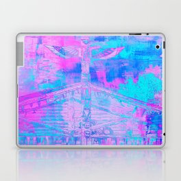 Totem Cabin Abstract - Hot Pink & Turquoise Laptop & iPad Skin