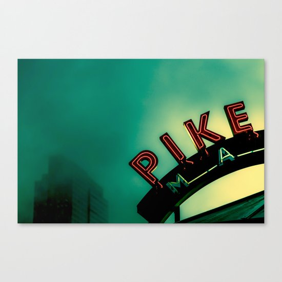 Pike Place Market at Dawn Canvas Print