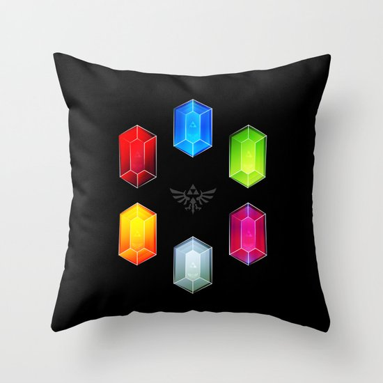 Zelda Just Want Them Rupees Throw Pillow by Barrett Biggers Society6