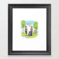 Picky Eater Framed Art Print