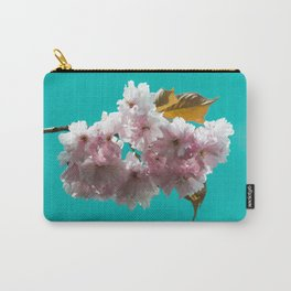 Cheery blossom green background Carry-All Pouch