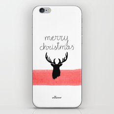 Christmas time - Deer edition iPhone & iPod Skin