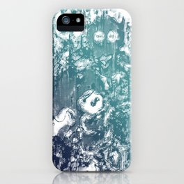 Inky Shadows - Blue edition iPhone Case
