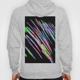 Abstract pink teal lime green black watercolor brushstrokes Hoody