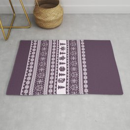"Roll for Initiative Fair Isle in ""Sugarplum"" Rug"