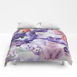 cats portrait Comforters