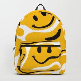 TRIPPY MELTING SMILE PATTERN Backpack