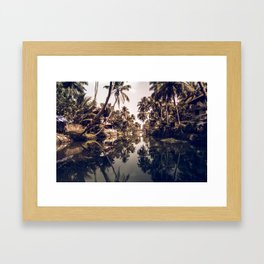 Kerala Backwater Framed Art Print