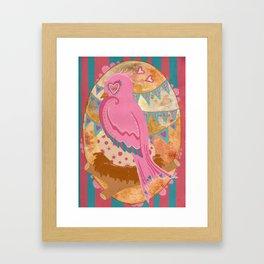Mama bird Framed Art Print
