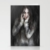 the vampire diaries Stationery Cards featuring Vampire by Justin Gedak