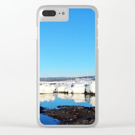 Shore Ice at Break-Up Clear iPhone Case