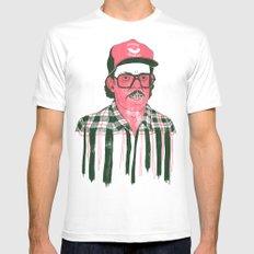 Sausage Man MEDIUM White Mens Fitted Tee