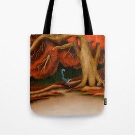 Blue Fox at The Dark Pool of Malkkaard Tote Bag