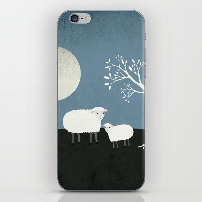 Midnight Sheep iPhone Skin