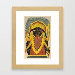 Kali Goddess Vintage Framed Art Print