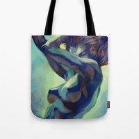 artgerm Tote Bags featuring Pepper Motion by Artgerm™