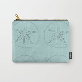 Sand Dollar Blessings Large Pattern - Pointilist Art Carry-All Pouch