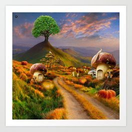 Hidden Village Art Print