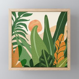 Desert Garden Sunset Framed Mini Art Print