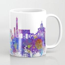 Bologna skyline in watercolor background Coffee Mug