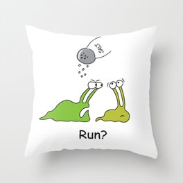 Run? Throw Pillow