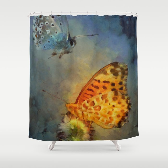 Silver Gold Shower Curtain By Daugustart