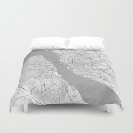 Liverpool Map Line Duvet Cover